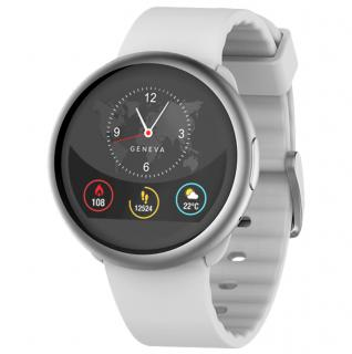Smartwatch ZeRound 2 Argintiu Si Curea Silicon Alba