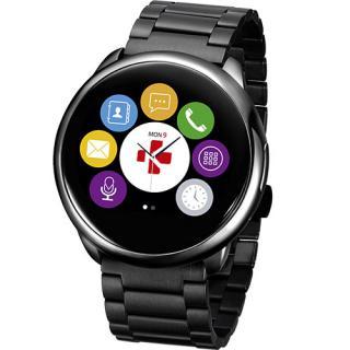 Smartwatch ZeRound Premium Curea Metal + Curea Silicon Negru