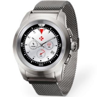 smartwatch zetime elite 39mm brushed argintiu milanese