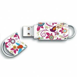 Stick USB 8GB Xpression Bird and Flower Multicolor thumbnail