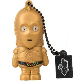 Stick usb 16gb c-3po  auriu