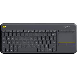 "<font color=""FF00CC"">Promotie!</font> Tastatura Wireless K400 Plus Touch TV Negru thumbnail"