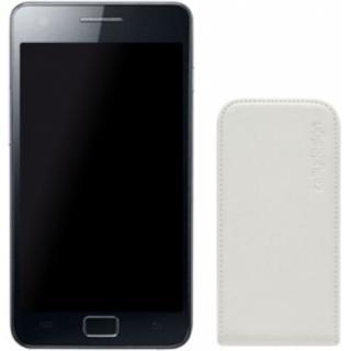 Husa Flip Face Alb Samsung Galaxy S 2