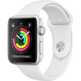 Watch 3 GPS Aluminiu Argintiu 38MM Si Curea Sport Alb Argintiu