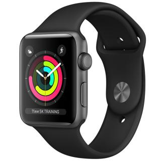 watch 3 gps aluminiu negru 38mm si curea sport neagra