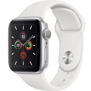 Watch 5 GPS Aluminiu Argintiu 40MM Si Curea Sport Silicon Alba