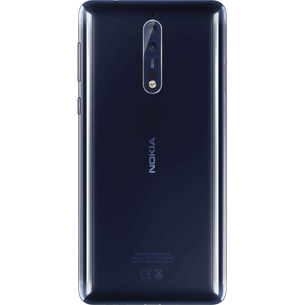 8 Dual Sim 64GB LTE 4G 4GB RAM Albastru Lucios + Husa