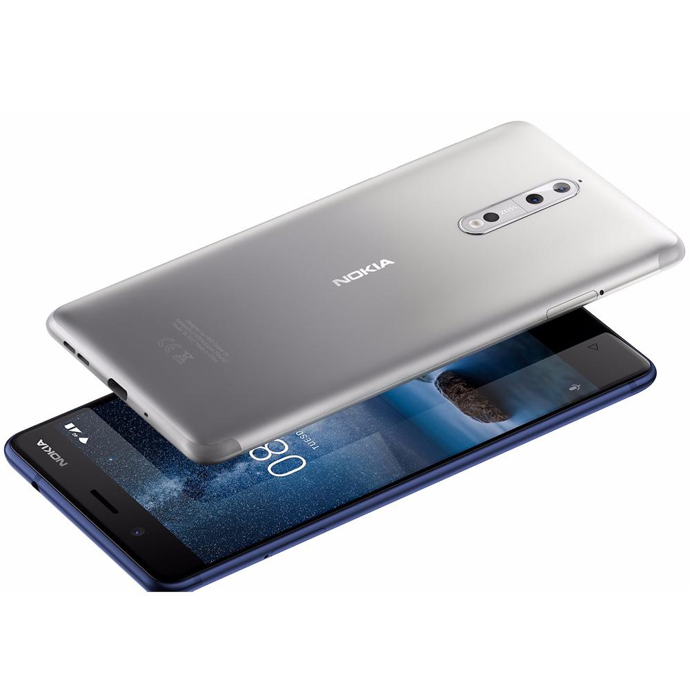 8  Dual Sim 64GB LTE 4G 4GB RAM Argintiu + Husa
