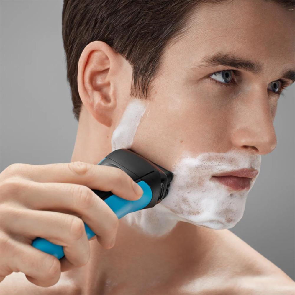 Aparat De Ras 310S Shaver, Reincarcabil, 3 Lame Flexibile, Impermeabil