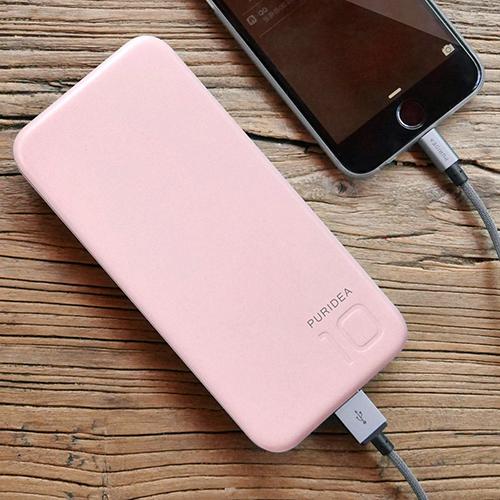 Baterie Externa S2 10000mAh Cu Doua Porturi USB Alb Roz