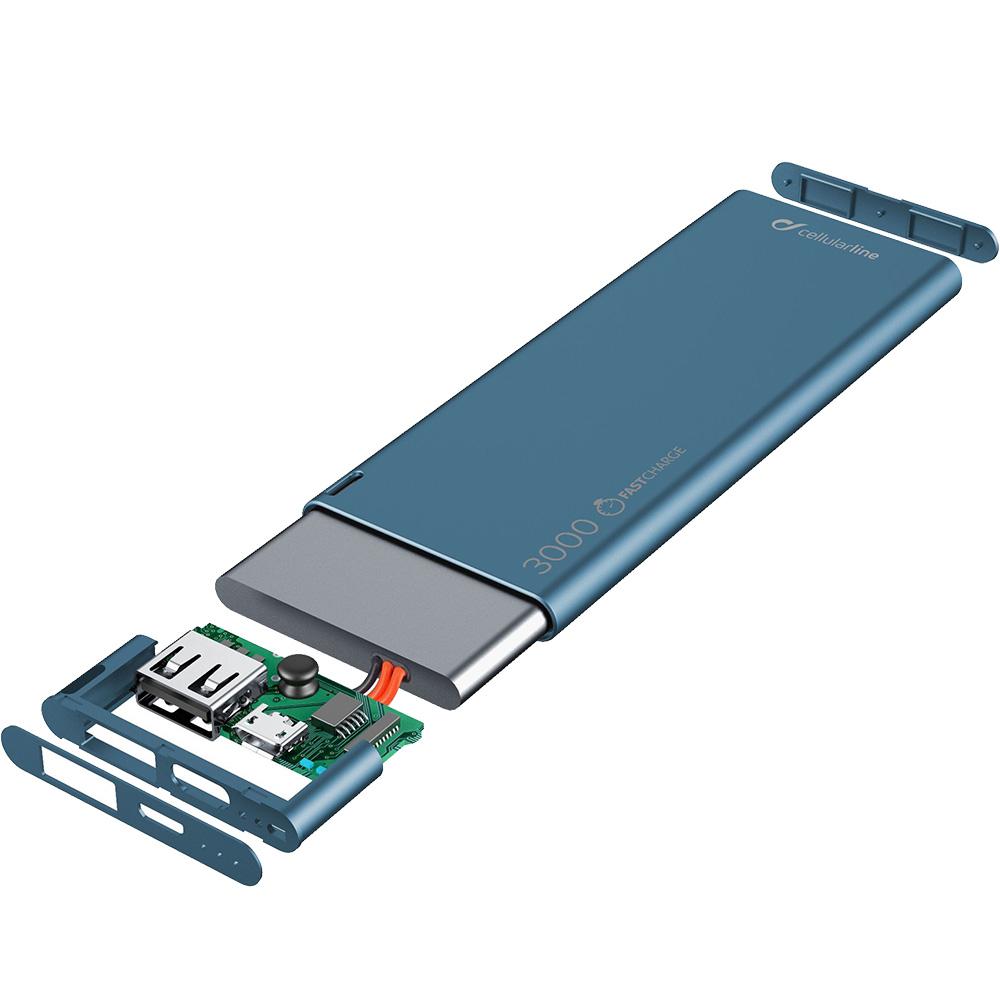 Baterie Externa 3000mAh  Albastru