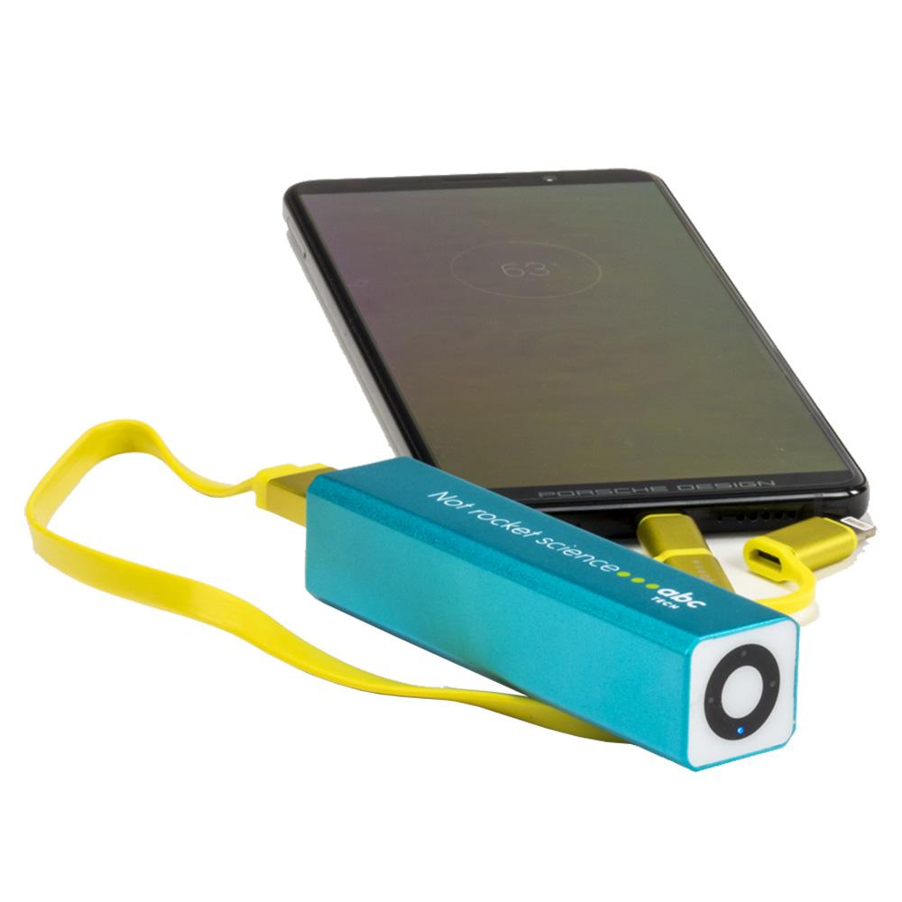 Baterie Externa Cu Led 2600 mAh Albastru