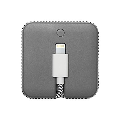 Baterie Externa Jump 800 mAh + Cablu Date USB Lightning Gri