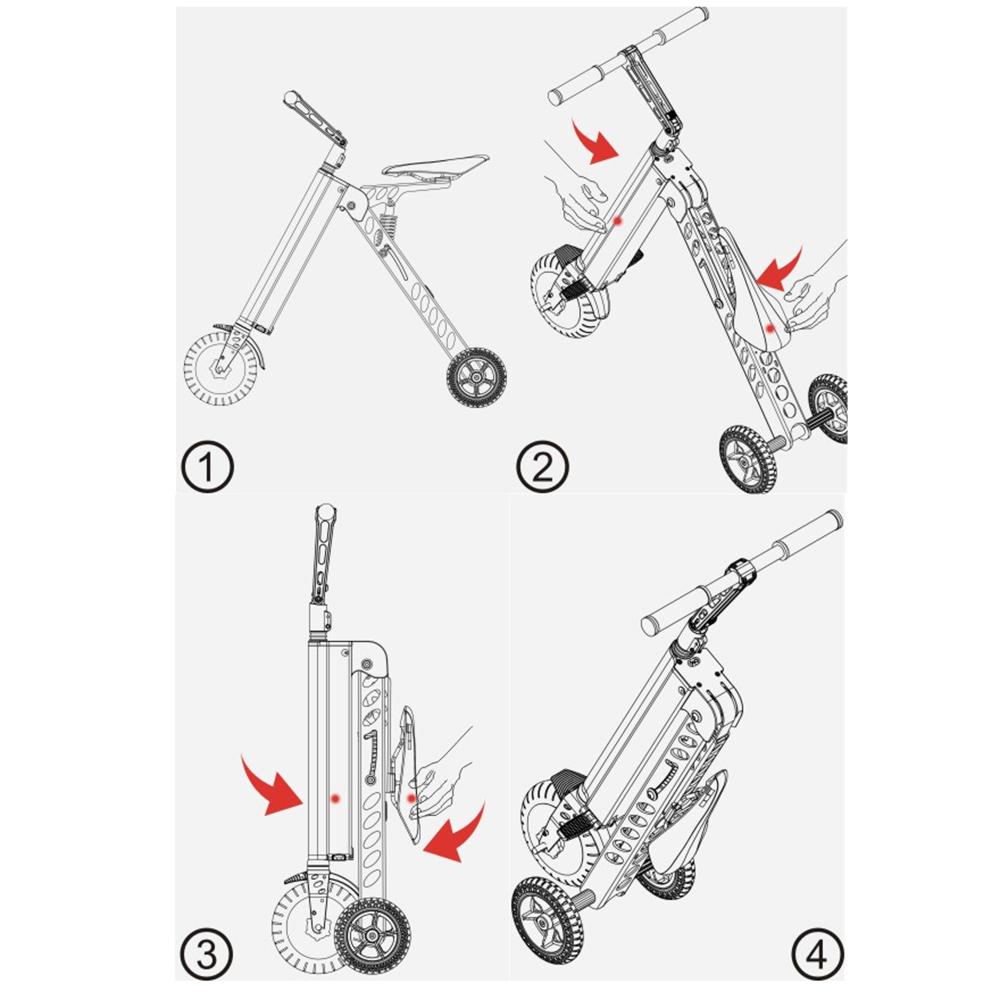 Bicicleta Electrica Pliabila E-Bike