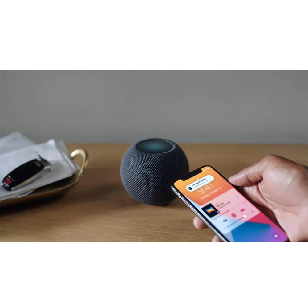 Boxa Inteligenta HomePod Mini, Siri, Control Vocal, Microfon, Sunet 360, Bluetooth, HomeKit, Negru