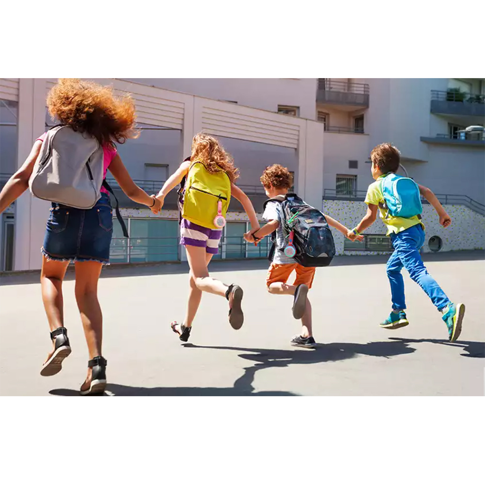 Boxa Portabila Wireless Bluetooth JR POP Kids, Panou Control, Carabina, Roz