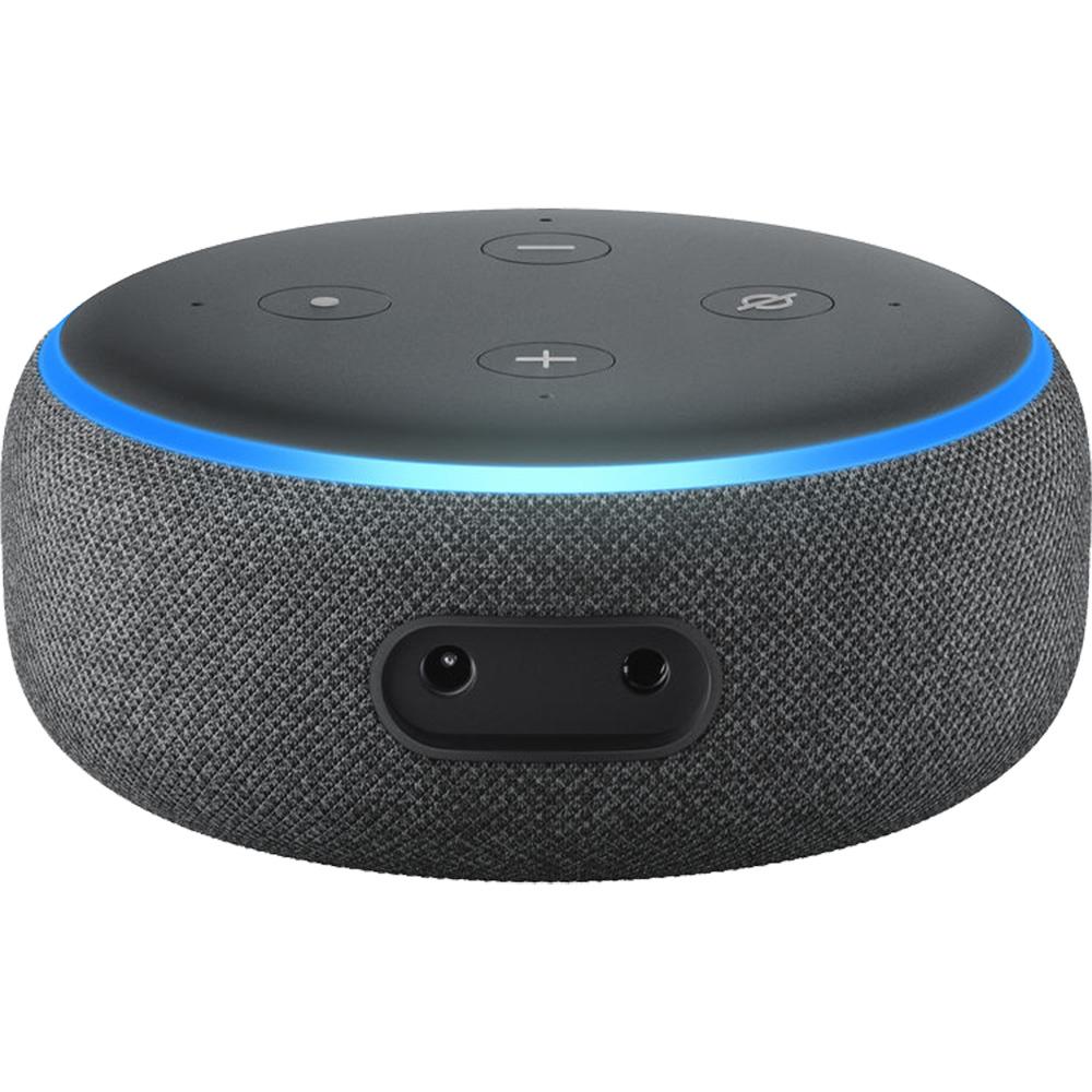 Boxa Portabila Bluetooth Echo Dot 2rd Generation, Alexa, Control Voce, Panou Control, Microfon, Difuzor, Conector 3.5 mm, Control Dispozitive Inteligente, Negru