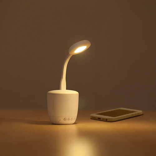 Boxa Portabila Smart Flower Cu Lampa Si Baterie Externa