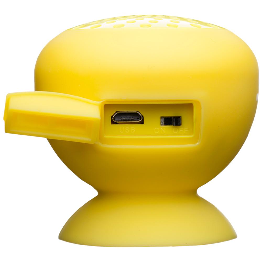 Boxa Portabila Wireless Bluetooth, Microfon, Buton Control, IPX4, Suction Cup, Galben