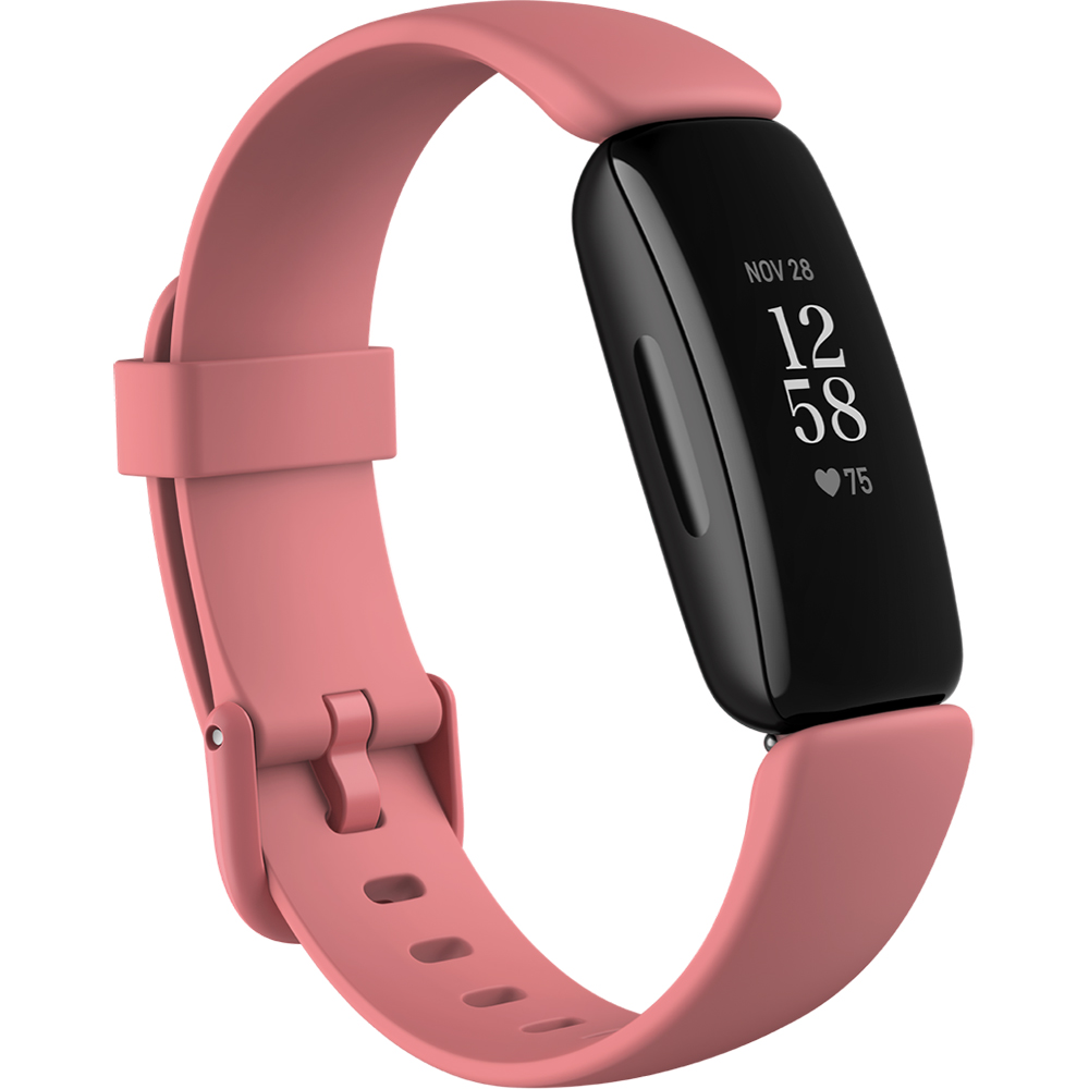 Bratara Fitness Inspire 2 Health & Fitness Tracker, Bluetooth, Ritm Cardiac, 20 Exercitii, 5 ATM, Roz