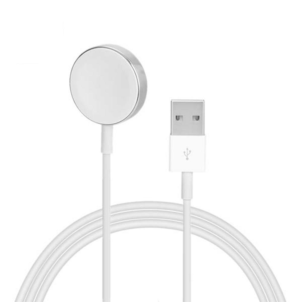 Cablu cu Incarcare Magnetica wireless, 2M , mufa USB-A pentru toate Apple Watch, culoare Alb - Apple