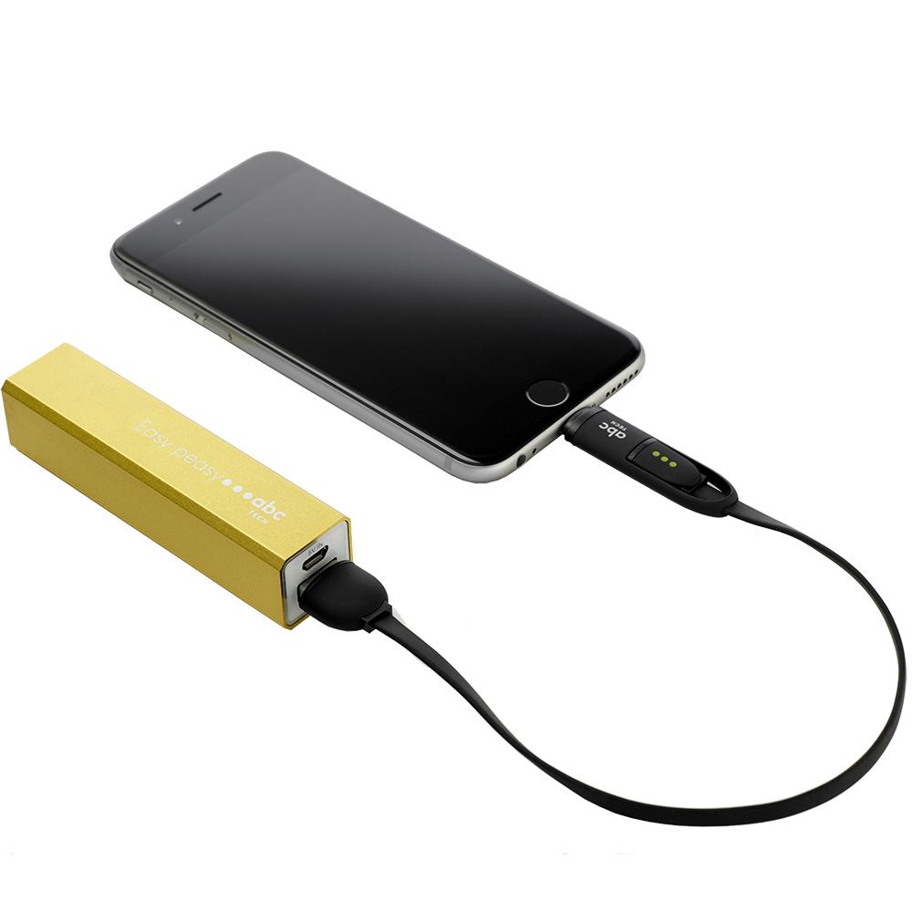 Cablu Date 30cm Micro + Lightning Negru