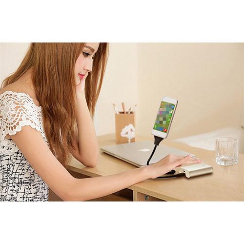 Cablu Date Creative Hand Micro USB PVC Negru Cu Suport Telefon