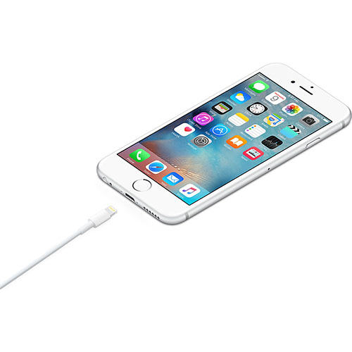 Cablu incarcare si date 0.5Metri USB-A catre lightning IOS, in pachet ambalaj, alb