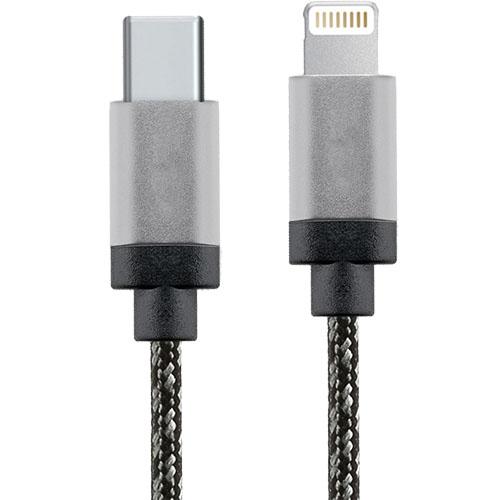 Cablu Date USB Type C La Lightning 1M Aluminiu Alb Negru