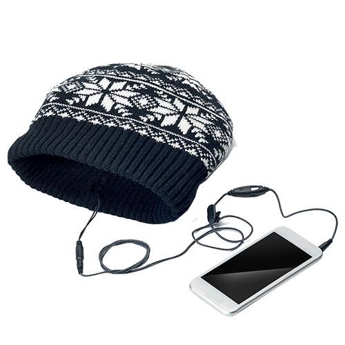 Caciula Stereo Music Cap cu Microfon Negru