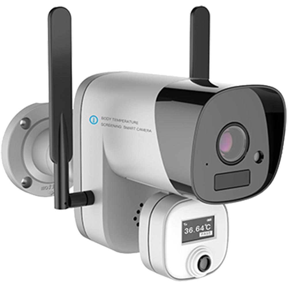 Camera de supraveghere cu senzor termic pentru masurarea temperaturii si tripod inclus