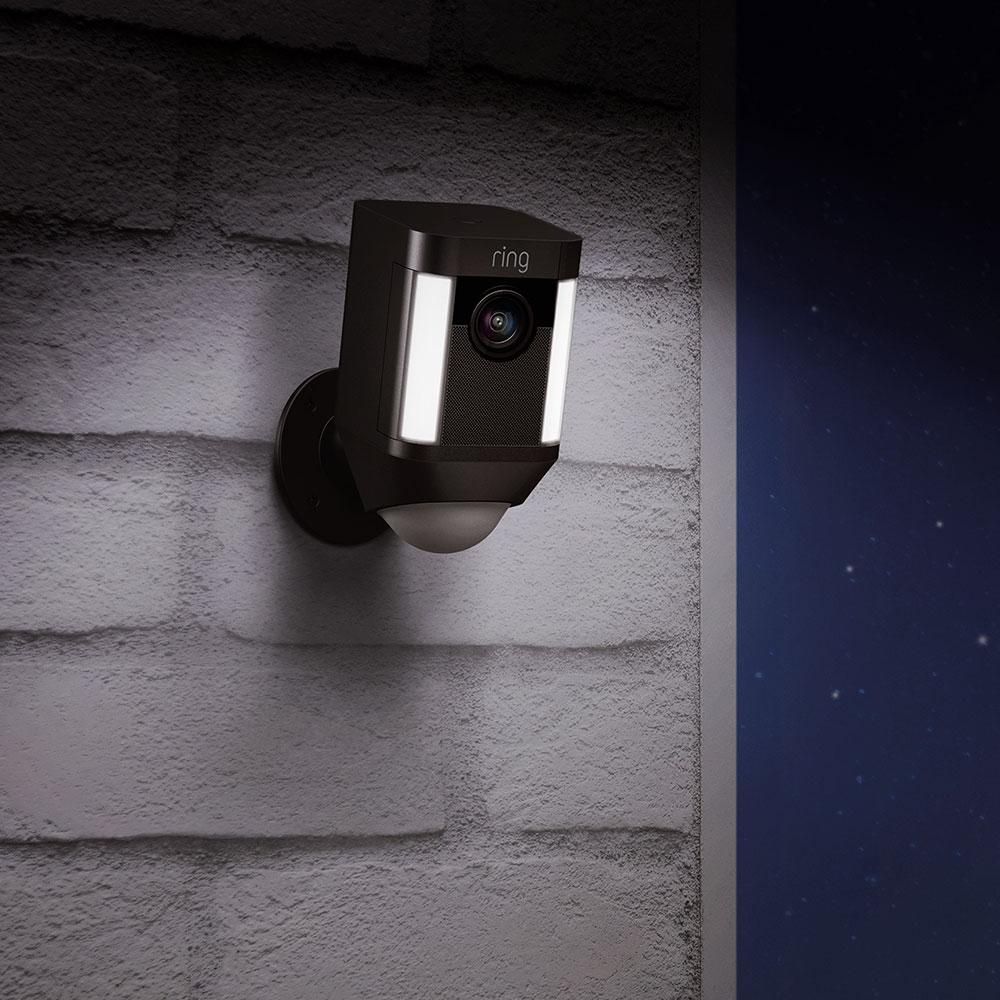 Camera de Supraveghere Spotlight HD Cu Microfon Negru