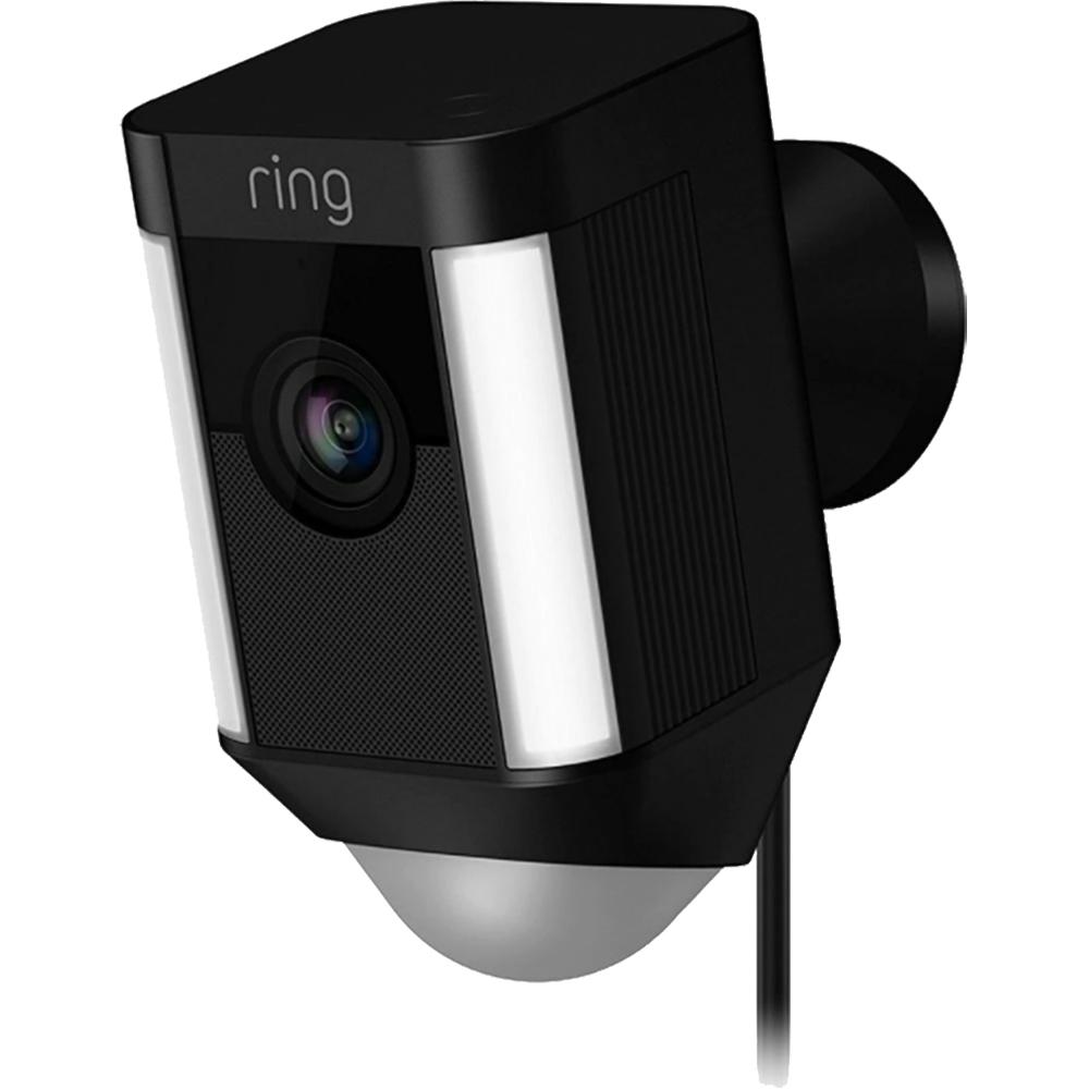 Camera de Supraveghere Spotlight HD Cu Difuzor Si Microfon, Camera 1080 HD, Ring-Always Home App, Negru
