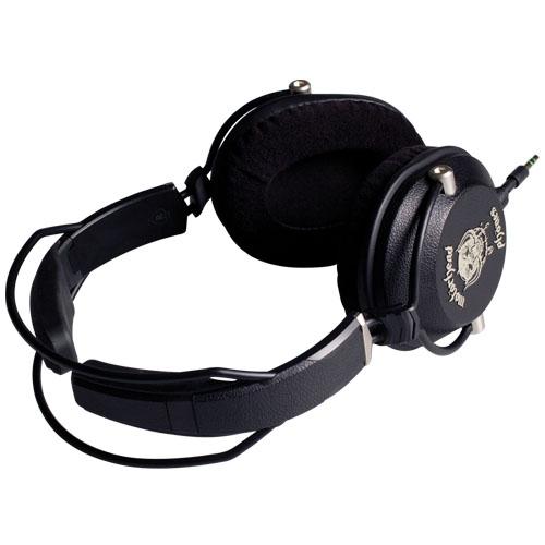 Casti cu fir motorizer stereo over ear cu microfon negru
