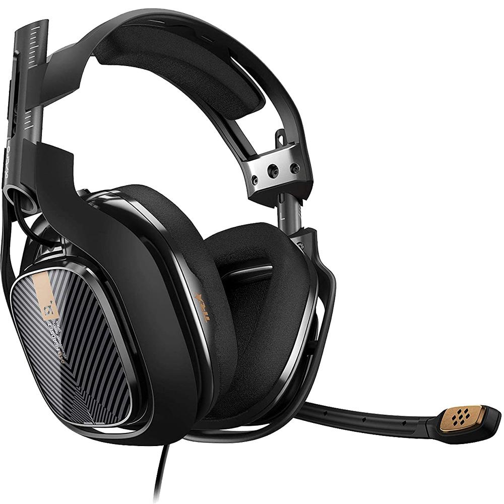 Casti Audio A40 Gaming Headset Over Ear, Microfon Reglabil, Mufa Jack 3,5 mm, Negru
