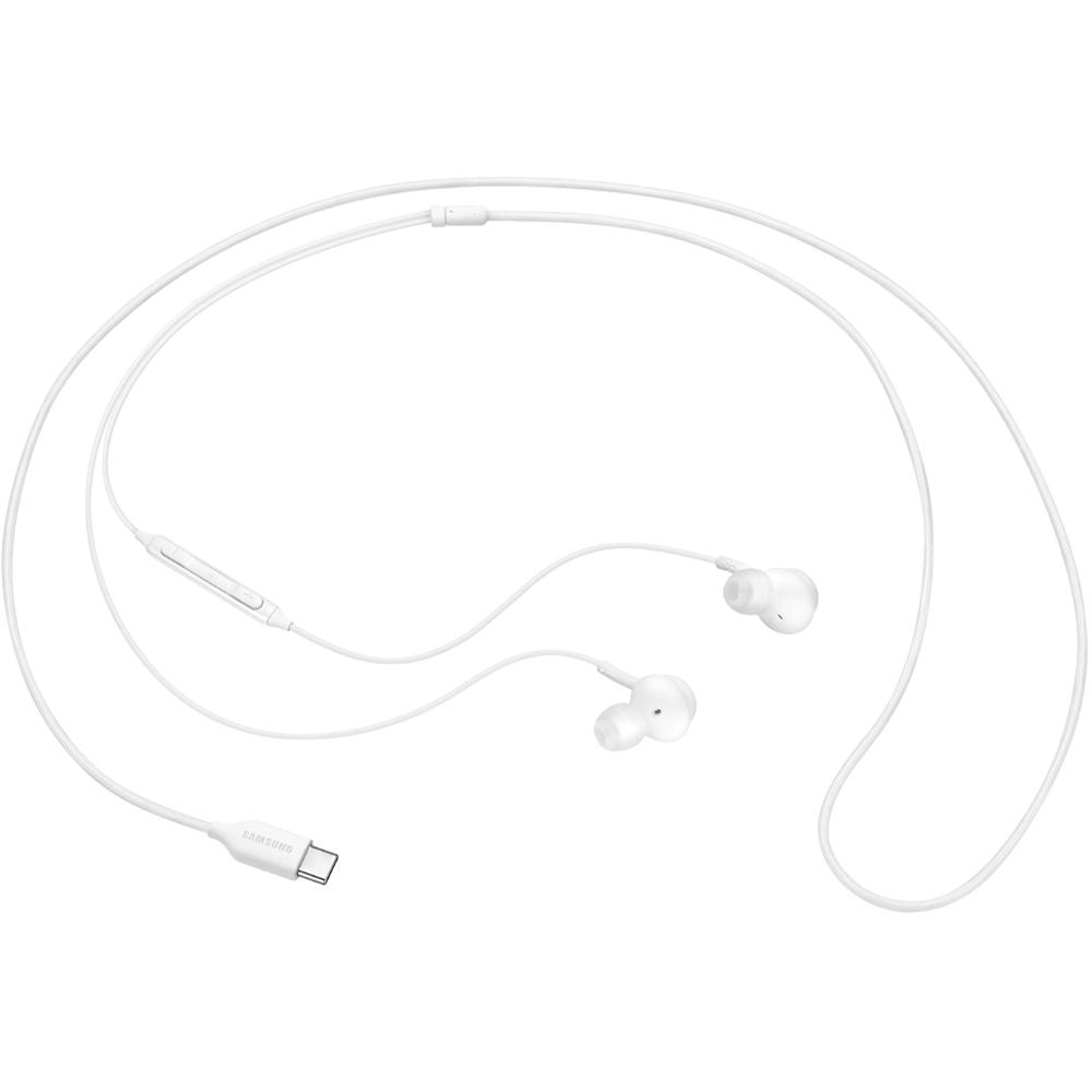 Casti Audio In-Ear AKG, cu volum si telecomanda pe fir, conector Mufa USB Type-C, Alb - Samsung