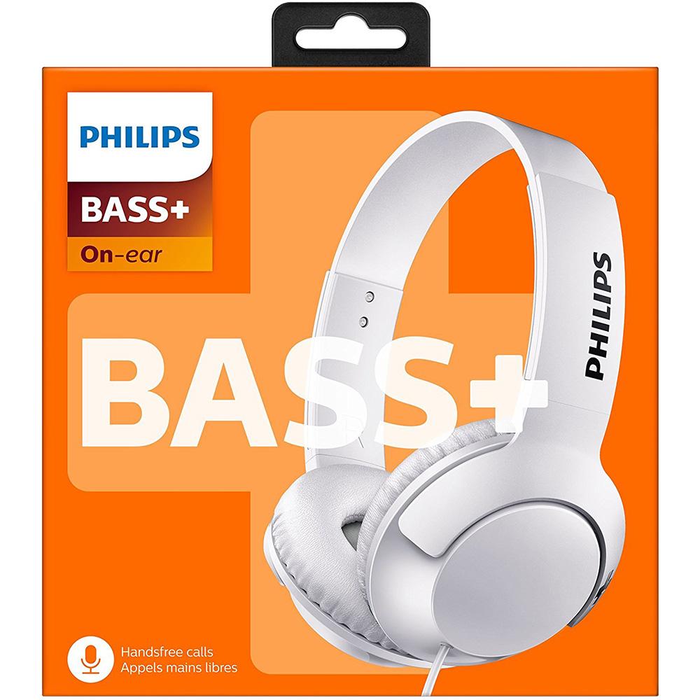 Casti Audio Bass + On Ear Cu Microfon Alb