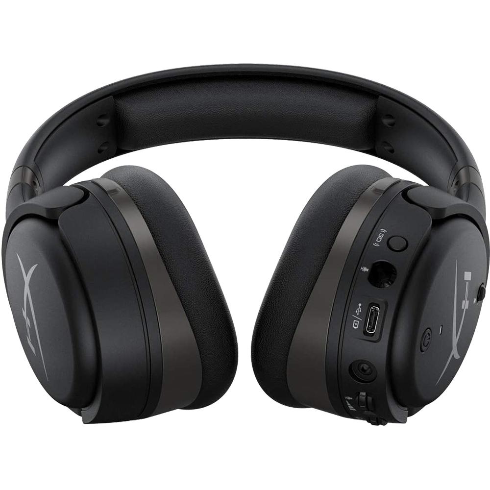 Casti Audio Over Ear Cloud Orbit S Stereo Gaming, Head Tracking, Microfon Reglabil, Tehnologie Audio 3D, ANC, Trei Optiuni De Cablu, HX-HSCOS-GM/WW, Negru