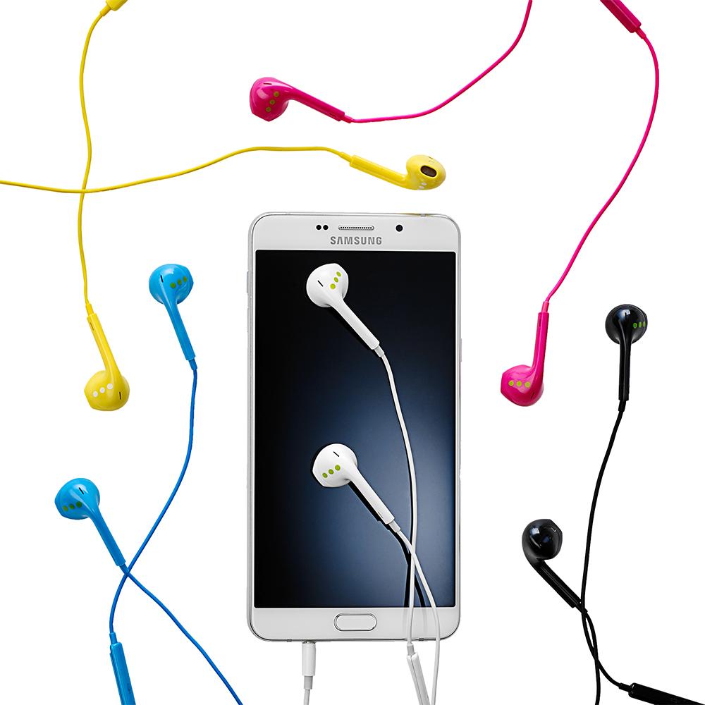 Casti Audio In-ear Cu Microfon Si Control Volum, Mufa Jack 3.5, Roz