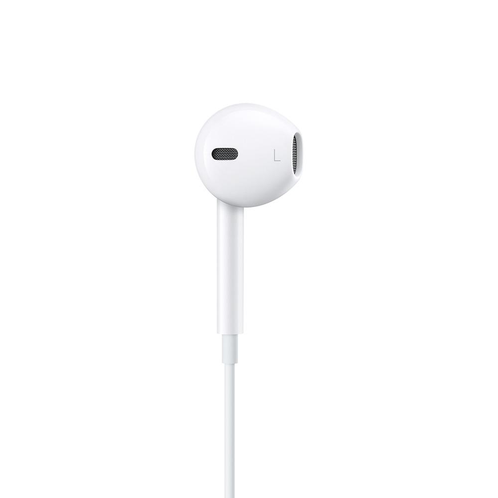 Casti cu microfon pe fir Apple EarPods cu mufa Lightning model MMTN2ZM/A , albe , bulk (fara ambalaj)