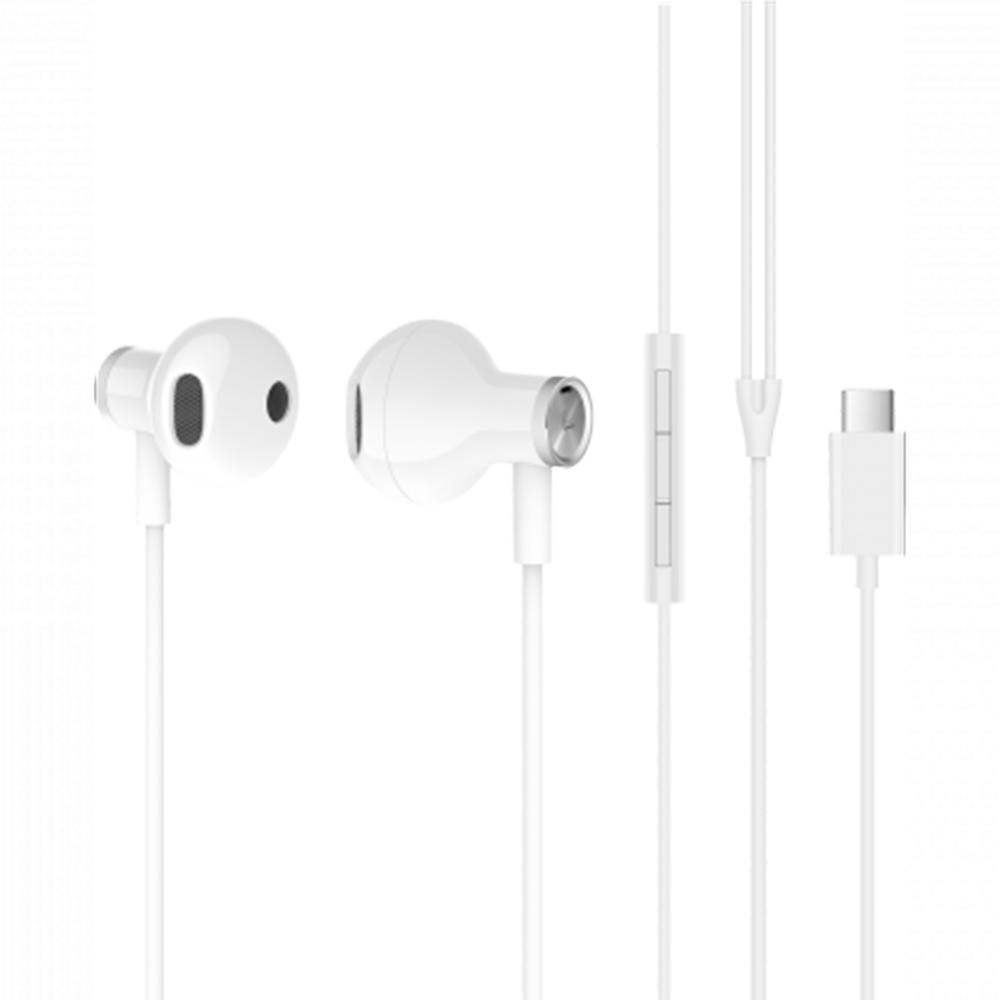Casti Audio Mi Dual Type C Alb