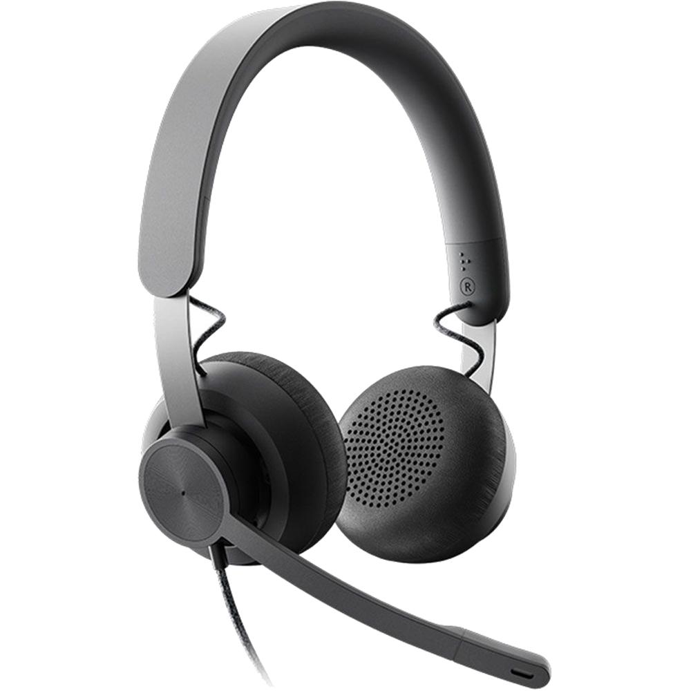 Casti Audio Zone Wired Headset Teams Over Ear, Microfon, USB-A, USB-C, Negru