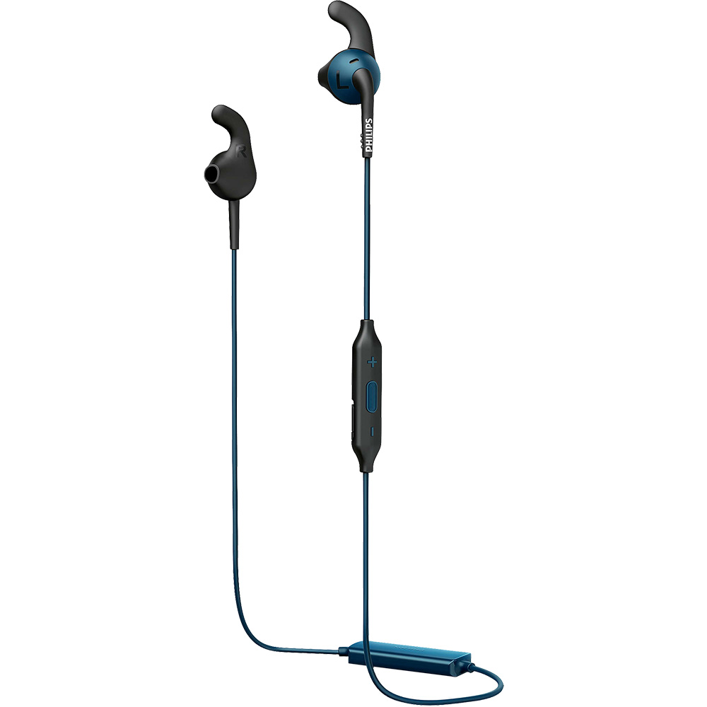 Casti Wireless Bluetooth ActionFit Sports In Ear, Microfon, Buton Control, IPX2, Albastru