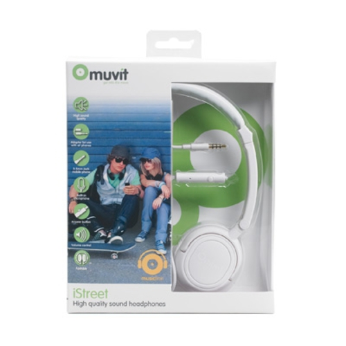 Casti Audio cu Microfon Stereo Over Ear Alb
