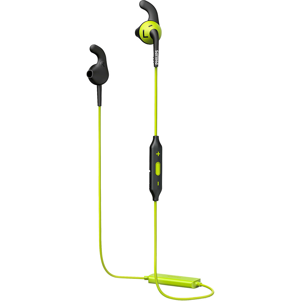 Casti Wireless Bluetooth ActionFit Sports In Ear, Microfon, Buton Control, IPX2, Verde Negru