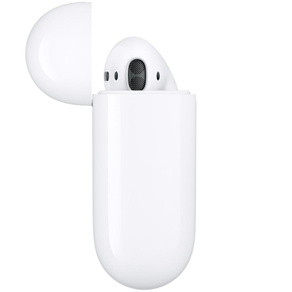 Casti Airpods 2 True Wireless Bluetooth cu Carcasa Incarcare Alb
