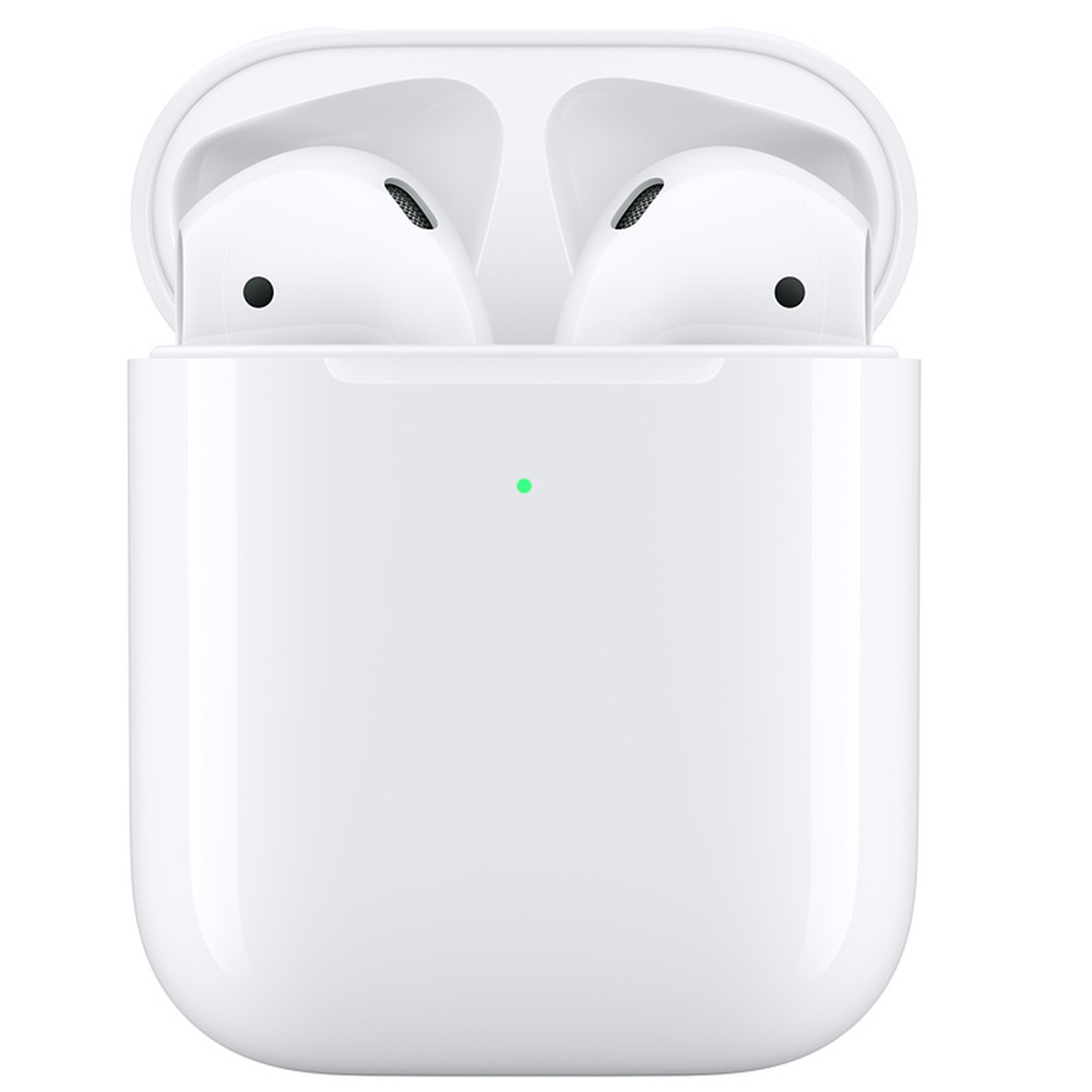 Casti Wireless   Airpods 2019 Cu Husa Incarcare Wireless Alb