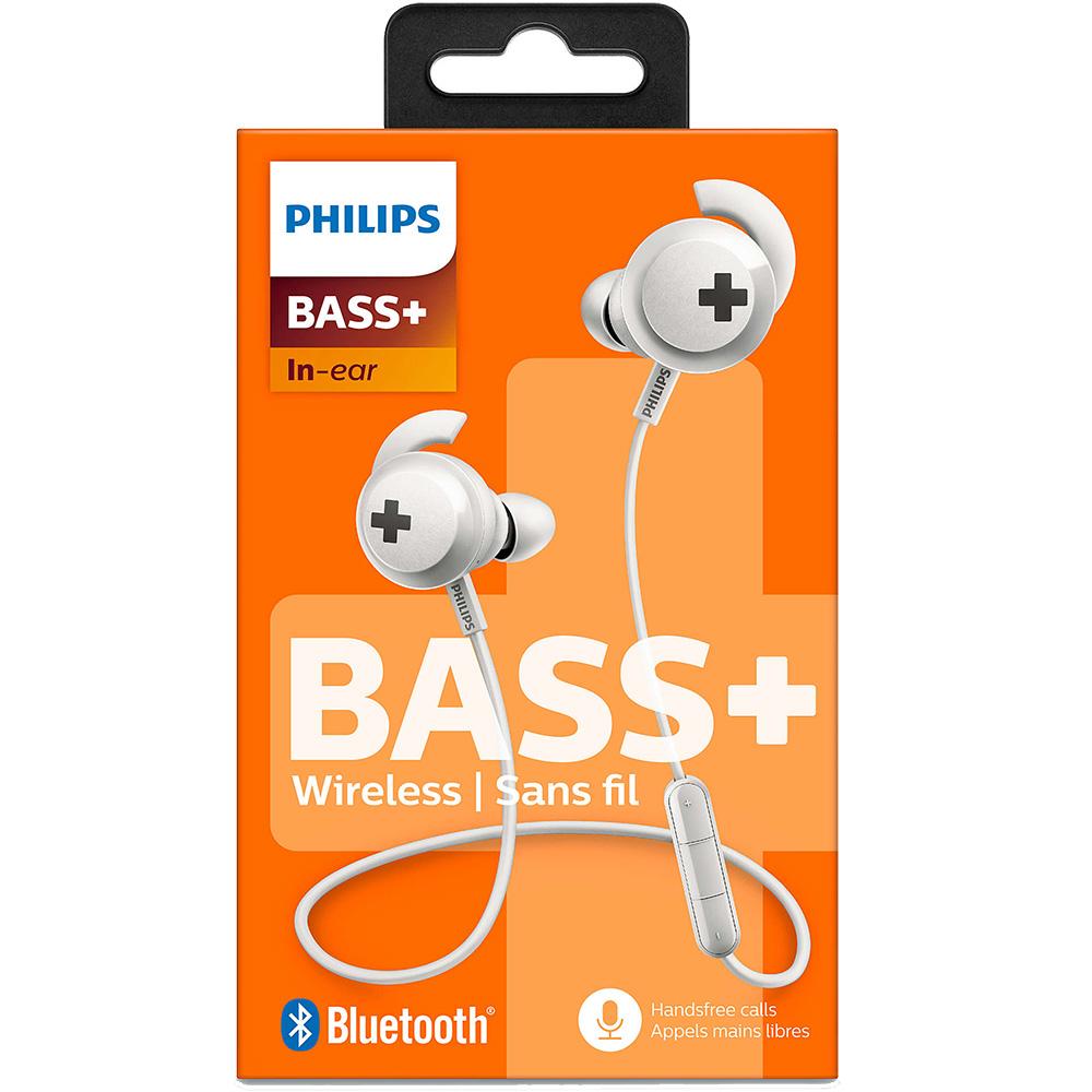 Casti Wireless   Bass + In Ear Alb