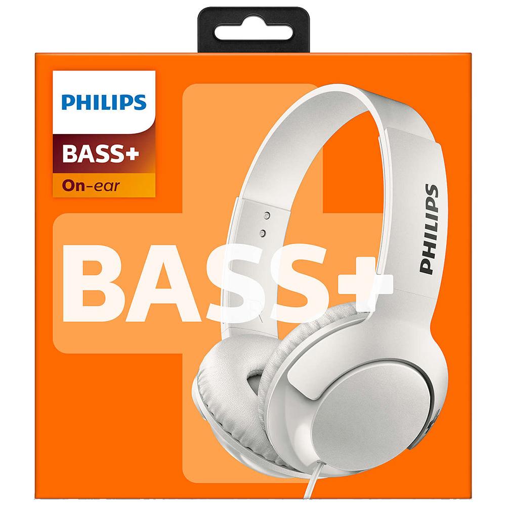Casti Audio Bass + On Ear Alb