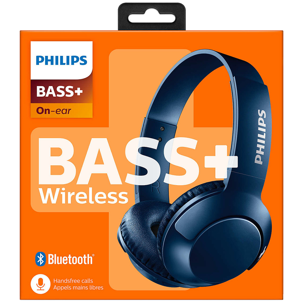 Casti Wireless Bass + On Ear Albastru